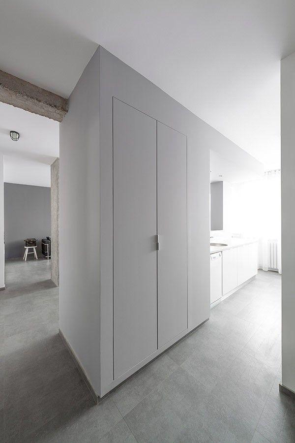 Speicher Bereich Empfangshalle Wohnung Minimalistischen Andreja Bujevac 21  Schwarz Weiß (14)