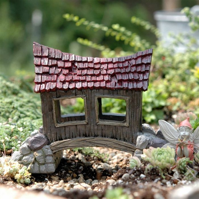 The Miniature Covered Bridge Is 6 Long X Wide X 5 High And Is Made Of  Durable Polyresin. This Covered Bridge Would Be Great In A Fairy Garden Or  A Railroad ...