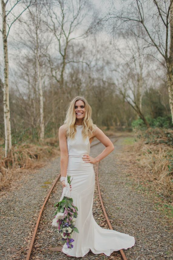 Ember Bohemian Luxe Silk Charmeuse Wedding Dress by GibsonBespoke