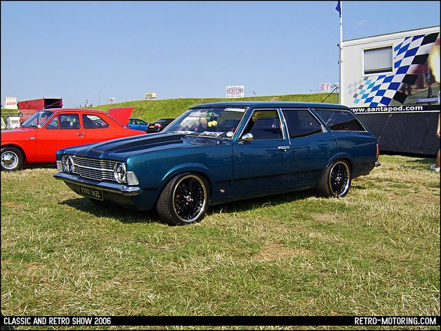 Blue Ford Cortina Estate Mk3 V8 YVW142L by retromotoring, via Flickr