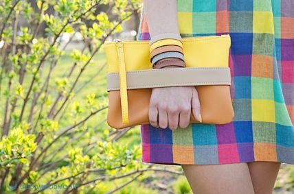 """Желтый клатч-сумочка """"CarryMe"""" PU 400 UAH"""