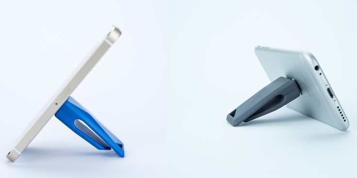 Stikey is a portable stand for all smartphones or phablets that works equally well on portrait and landscape orientation. April on Kickstarter! http://stikey.co.uk/