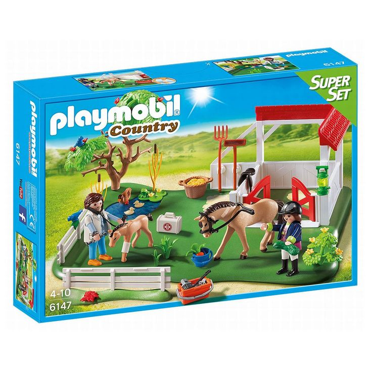 Playmobil Country Horse Paddock Super Set - 6147, Multicolor