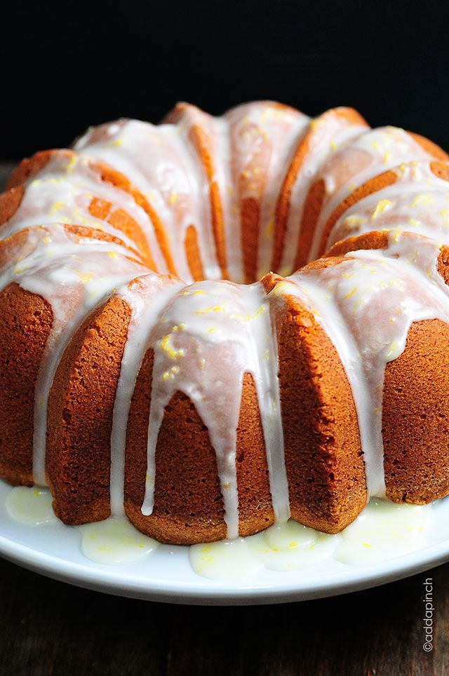 Lemon Pound Cake Recipe | This is the BEST Lemon Pound Cake I've ever had! Oh that glaze! from ©addapinch.com
