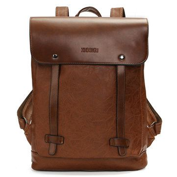 Donne Satchel Zaino PU epoca uomini borse in pelle per notebook Zaino sacchetto di scuola