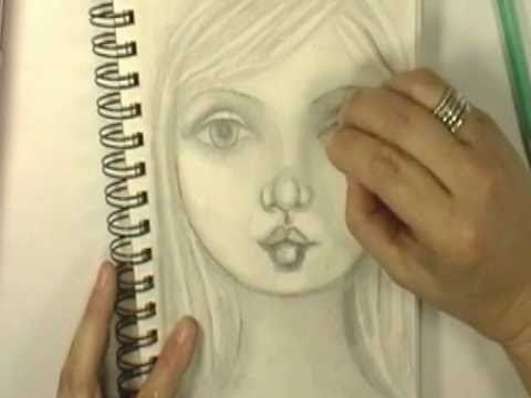 Drawing a face with Cristina Zinnia Galliher ~*~Roses On My Table~*~ - YouTube