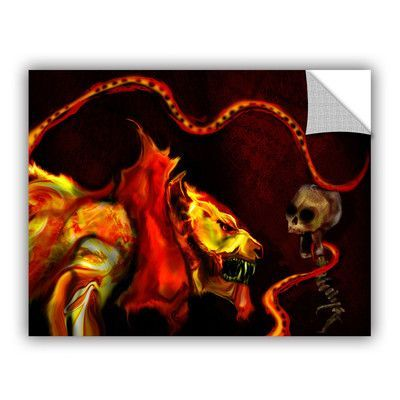 """ArtWall Shadow Of The Beast by Michael L Stewart Graphic Art Size: 18"""" H x 24"""" W"""