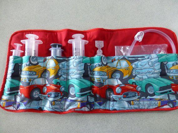 Custom Order Roll Go Feeding Tube Accessories Pouch