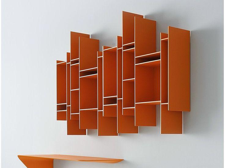 Librería abierta de pared de MDF RANDOMITO - MDF Italia