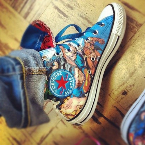 DIY Decoupage Comic Book Shoes (based on Michaels Craft Store picture)