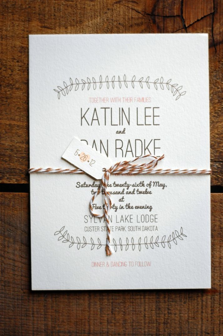 simple and sweet wedding invitation design in neutral shades from snail mail design shop