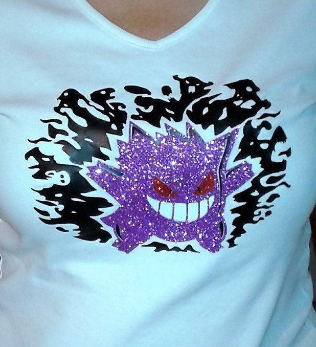 Gengar Pokemon Go Bling Shirt T shirt Tee by SharisVinylEmporium on Etsy