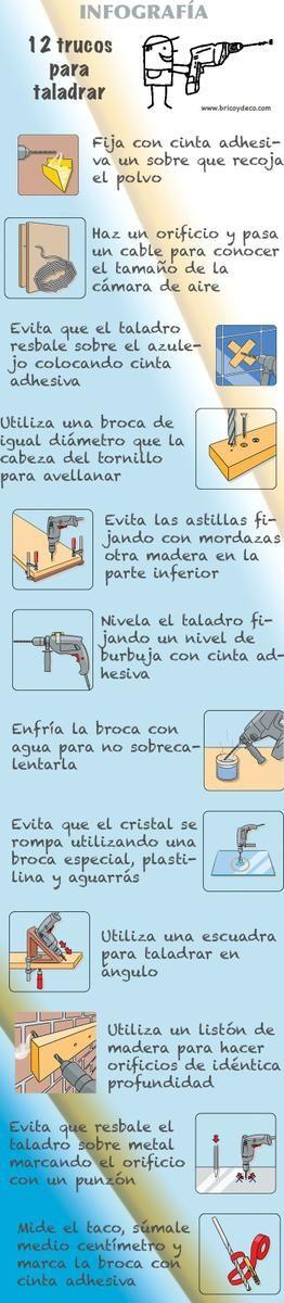 Infografía: 12 trucos para taladrar | Hacer bricolaje es facilisimo.com