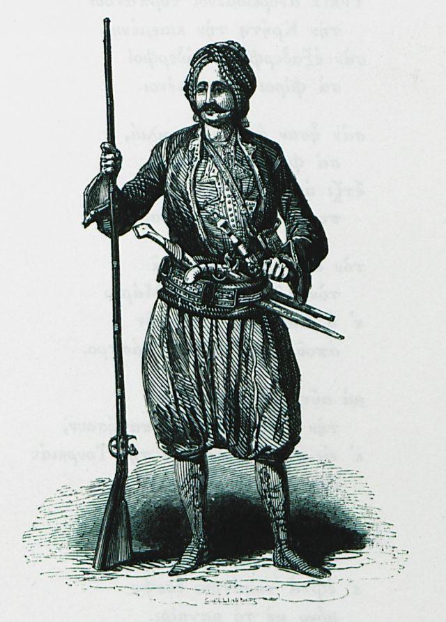 Σφακιανός. Χρονολογία έκδοσης 1837 Έκδοση PASHLEY, Robert. Travels in Crete, τ. I, Λονδίνο, John Murray, MDCCCXXXVII [=1837]. Ιδιωτική Συλλογή
