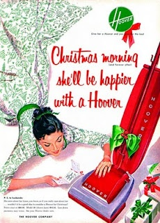 Vintage Christmas Magazine Ad ~ Hoover Vacuum Cleaner