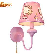 Розовые Стены Светодиодные Лампы E27 Лампа 110 В-220 В Домашнего Освещения Дети Подвеска номер Настенный Светильник для Спальни Чтения Кровать Свет прикроватные