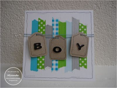 Miranda's Creaties - Washi tape boy