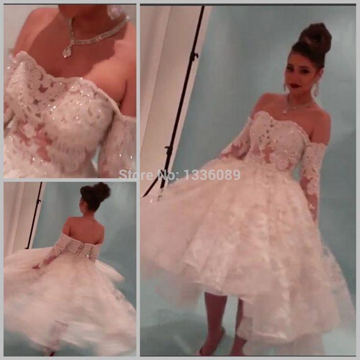Barato Real fotos vestido de novia 2015 Yousef Aljasmi Myriam Fares vestido de baile manga comprida vestidos de casamento, Compro Qualidade Vestidos de noiva diretamente de fornecedores da China:            A cor pode ter um pouco de diferença entre CRT e tela LCD