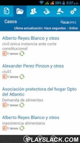 LEGISOffice  Android App - playslack.com ,  Esta App es la versión móvil de LEGISOFFICE, www.legisoffice.com, solución en la nube para la gestión de oficinas de abogados que automatiza el flujo de trabajo y la información de los procesos jurídicos según la ley colombiana. Utilice el mismo el usuario y clave de su oficina LEGISOFFICE para conectarse en esta versiónCaracterísticas principales:- Revise y registre las tareas pendientes de la gestión de los casos.- Vea la información registrada…