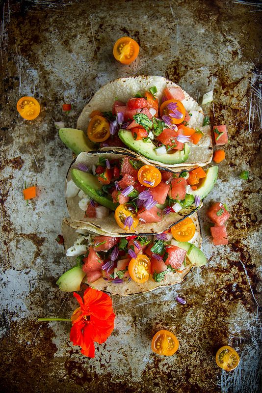 Grilled Halibut Tacos with Watermelon Salsa - for a welcome variation on beloved taco night!