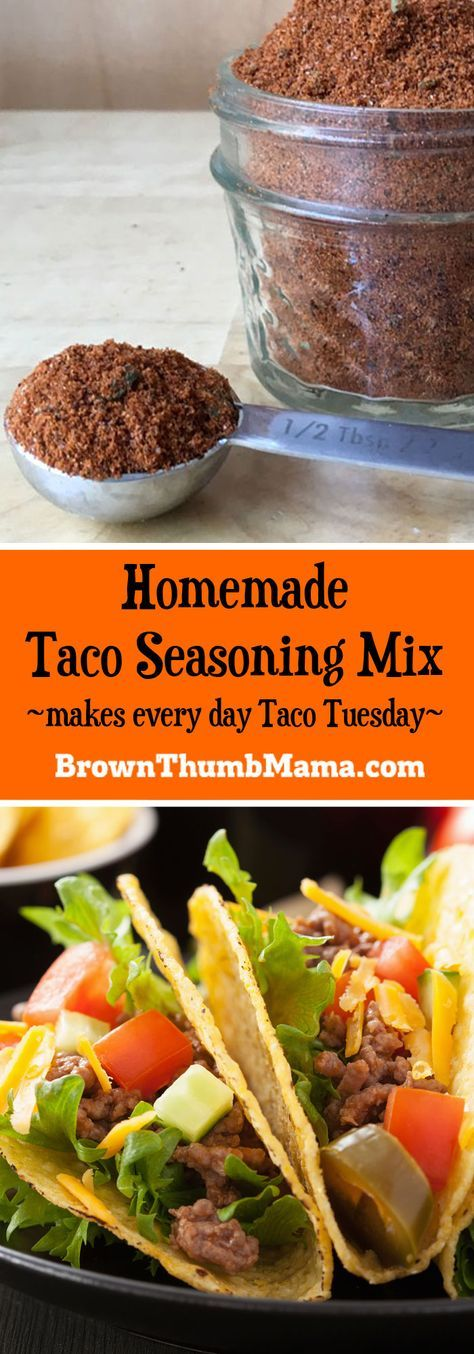 You'll love making your own healthy, homemade taco seasoning mix. No fillers, MSG, or weird chemicals--and you can make it as hot or mild as you like!