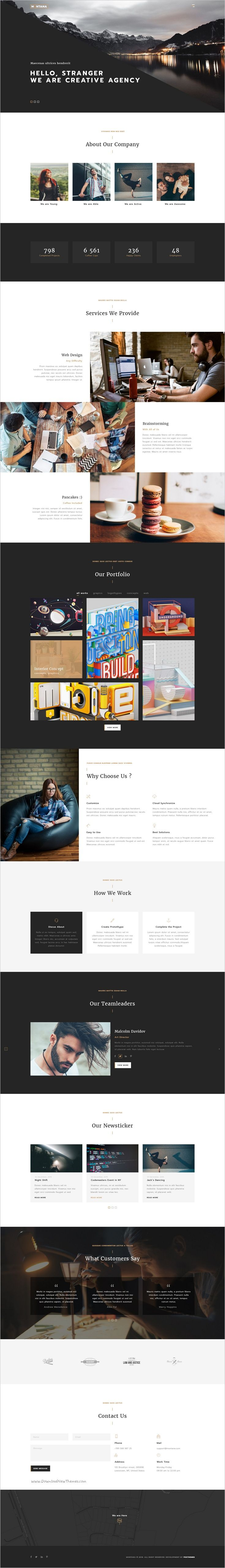 Montana is a modern and creative One Page #PSD Template for #Portfolio, #Agencies, Saas Websites download now➩ https://themeforest.net/item/montana-modern-and-creative-one-page-template/19184748?ref=Datasata