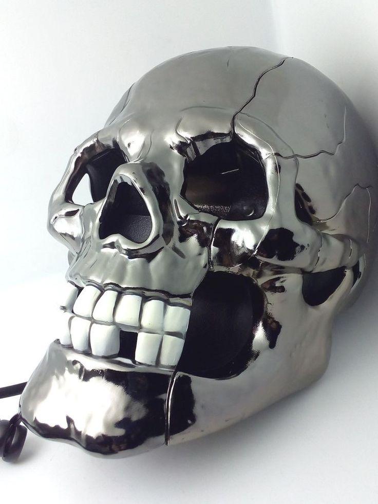 Telefono Teschio Cromato Fisso Casa Ufficio Scheletro Cranio Max Store Italia