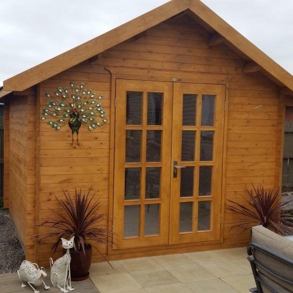 sheshed wooden kit set garden sheds nz happy blenheim customer