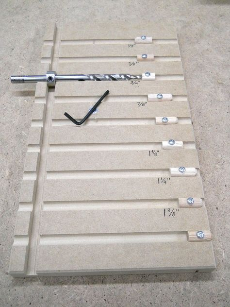 Pocket Hole Drill Bit Depth Setting Board / Plateau d'ajustement de profondeur…