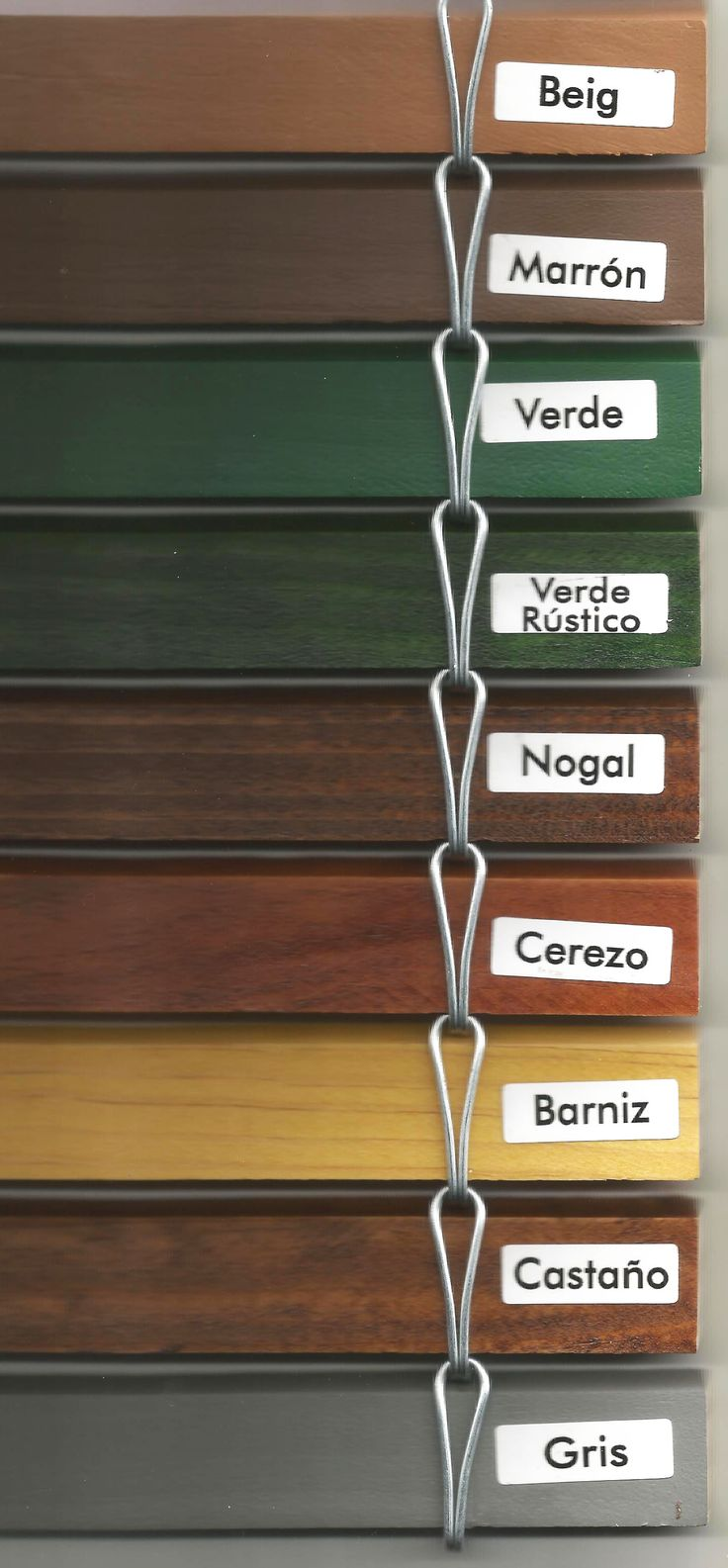 Colores de persianas madera alicantinas estores de for Estores de madera