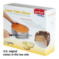 """Amazon.com: Zenker inoxidable capa de acero del kit de la torta rebanar con 12 """"serró el cuchillo, de 3 piezas: Hornear y servir Conjuntos: Cocina y comedor"""