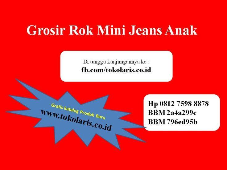 081275988878 | Grosir Rok Mini Jeans Anak Bahan Jeans