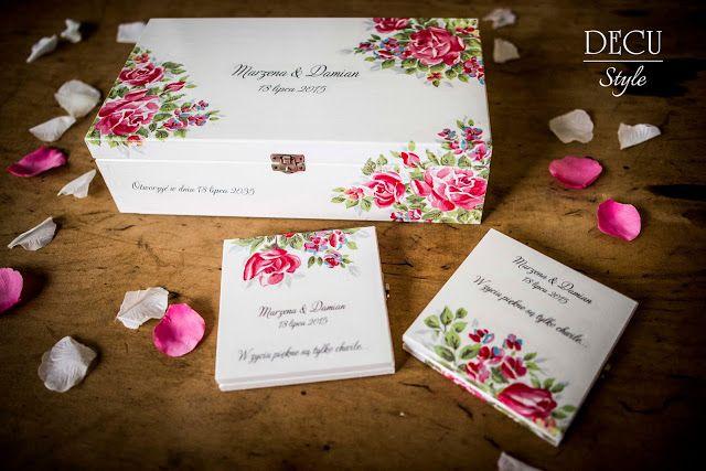 DECU Style - Decoupage blog: Komplet Ślubny z życzeniami na przyszłość...