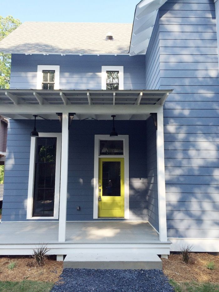 House Exterior Color Is Granite Peak By Sherwin Williams The Door Is Hep Green By Sw And