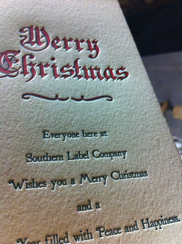 personalized letterpress christmas cards printed on 110lb