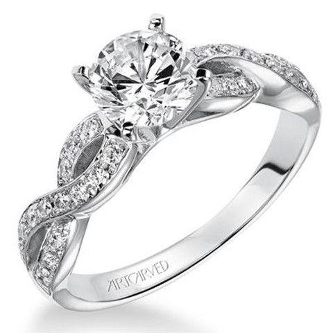 B E A utiful! Artcarved Gabrielle Bypass Twist Diamond Engagement Ring · 31-V158-E · Ben Garelick Jewelers