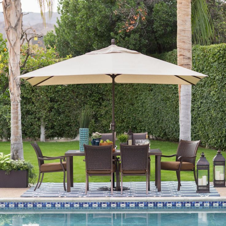 Aluminum Rectangle Patio Umbrella   Patio Umbrellas At Hayneedle