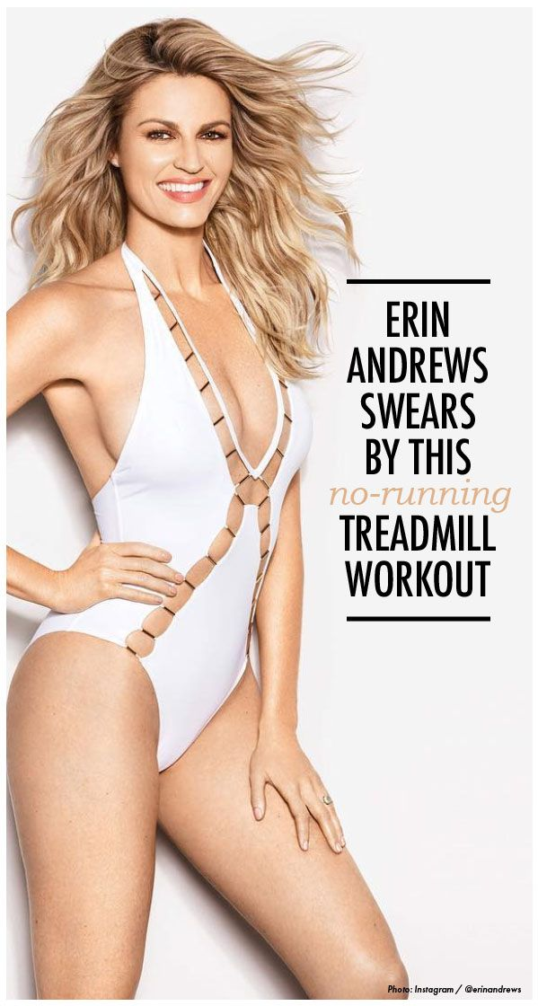 Erin Andrews' interval treadmill workout is pretty intense — and involves ZERO running. Womanista.com