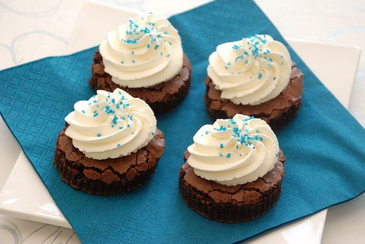 Brownies med flødeskum fra Bageglad.dk