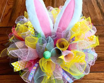Easter centerpiece/ Easter bunny by Wreaths4everyreason on Etsy