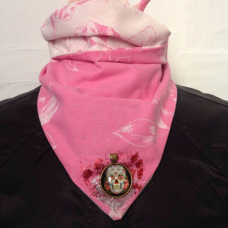 A personal favourite from my Etsy shop https://www.etsy.com/uk/listing/537846053/pink-bandana-skull-and-glitter-detail-by