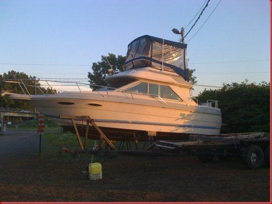 A vendre  Bateau Sea Ray Sedan Bridge SD265 30 pieds HT (1988) Fly Bridge: Nouveau Prix juin 2015!  Contactez-moi!