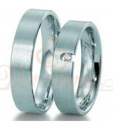 Βέρες γάμου από πλατίνα με διαμάντι Breuning 9007-9008