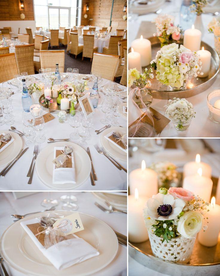 Tischdeko Pastell Hochzeit. Blumen und Deko Gärtnerei Bürkle. Photos ...