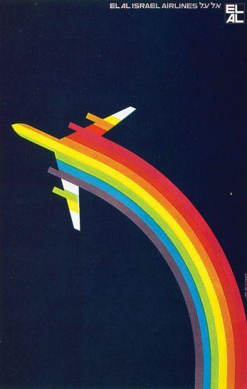 El Al Israel Airlines Vintage Travel Poster