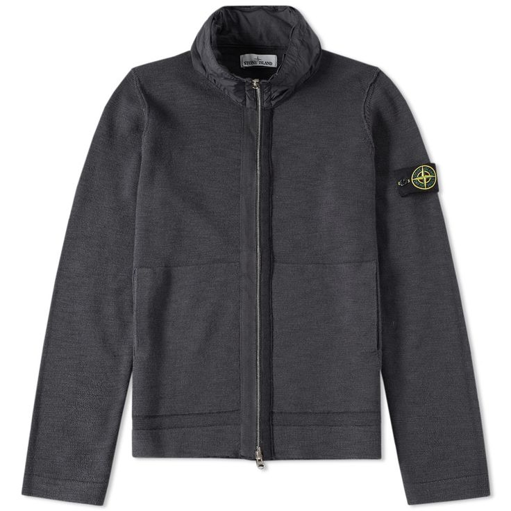 Stone Island Slub David-TC Zip Hoody (Anthracite)
