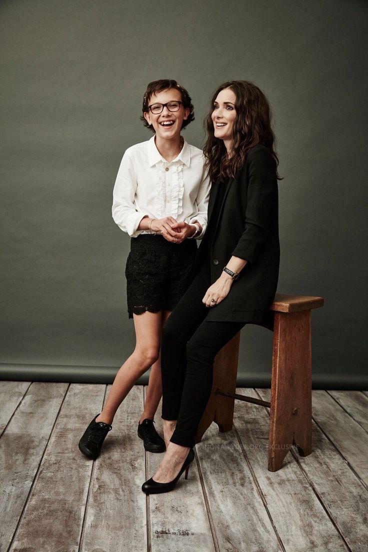 Winona Ryder and Millie Bobby Brown from Stranger Things at TCA 2016