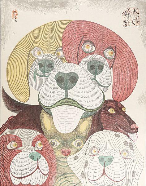 """Dedicated to Arcimboldo"" series / Dogs by Tsuruya Kokei | 〈アルチンボルドに捧ぐ五題〉の内 犬 弦屋光溪"