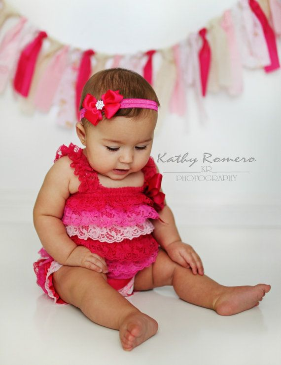 Pink Petti Romper - Lace Petti Romper - Valentines Day Petti Romper - Baby Girl Petti Romper - Photo Prop - READY TO SHIP on Etsy, $14.95