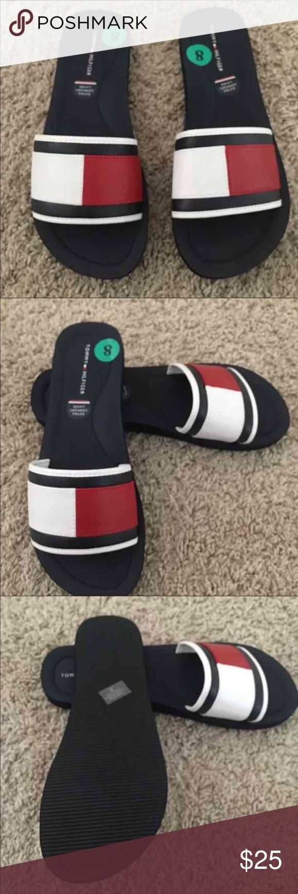 Tommy Hilfiger logo women's Flip Flop size 8 Brand New Women's Tommy Hilfiger Logo flip flops size 8. new without box Tommy Hilfiger Shoes Sandals